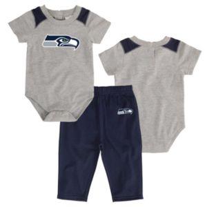 Infant Seattle Seahawks Ellipse Bodysuit & Pants Set