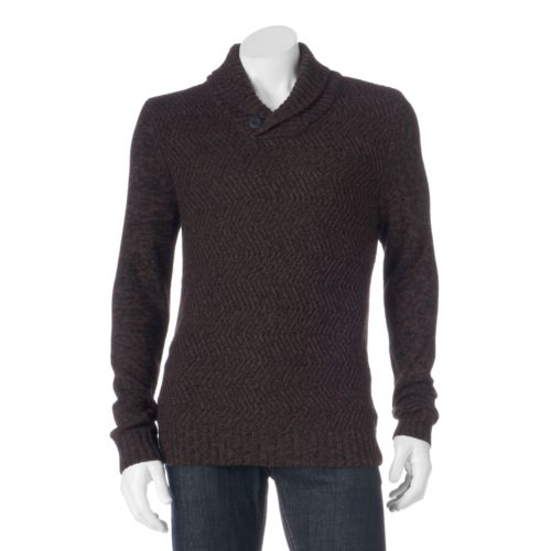 Men's Method Classic-Fit Heathered Shawl-Collar Sweater