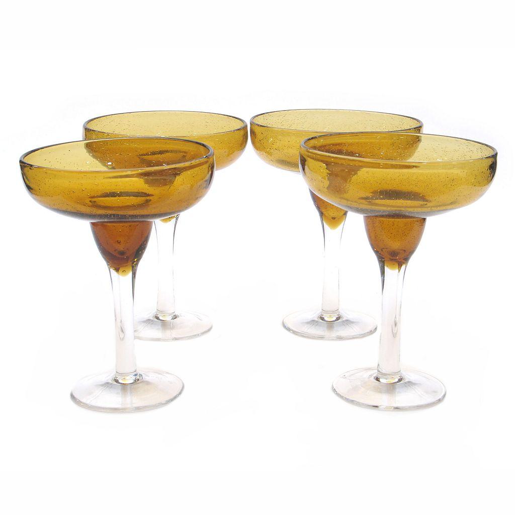 Certified InternationalBubble 4-pc. Margarita Glass Set