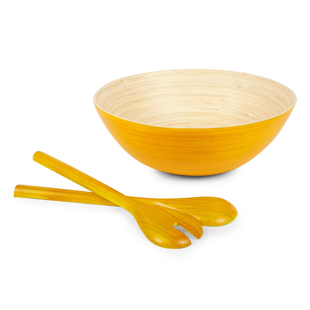 Core Bamboo Spun Bamboo Serving Bowl Set