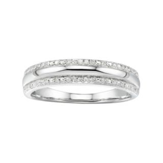Promise Love ForeverSterling Silver 1/10 Carat T.W. Diamond Anniversary Ring