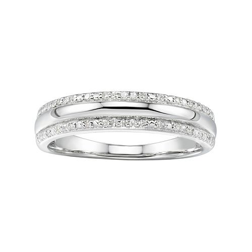 Promise Love Forever Sterling Silver 1/10 Carat T.W. Diamond Anniversary Ring