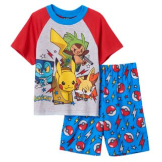 Boys 6-12 Pokemon Pikachu 2-Piece Pajama Set