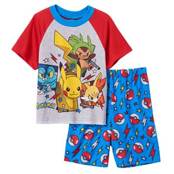 Boys 6-12 Pokemon Pikachu 2-Piece Pajama Set