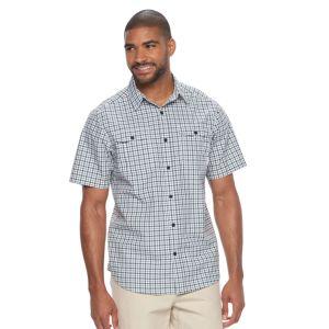 Men's Columbia Omni-Shade Glen Meadows Gingham Button-Down Shirt