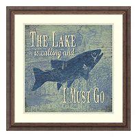 The Lake Fishing Framed Wall Art