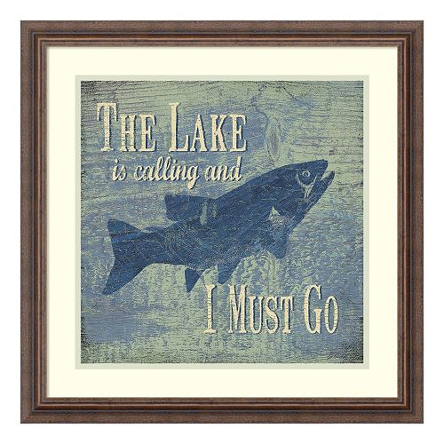 The Lake Fishing Framed Wall Art
