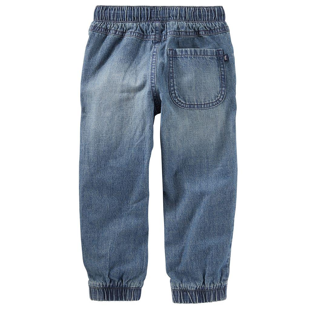Toddler Boy OshKosh B'gosh® Faux-Patched Denim Jogger Pants