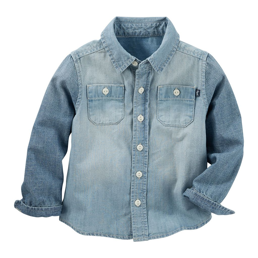 Toddler Boy OshKosh B'gosh® Chambray Denim Button-Down Shirt