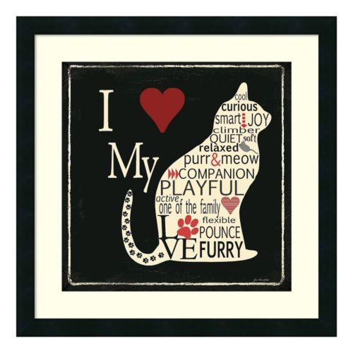 """I Love My Cat"" Framed Wall Art"
