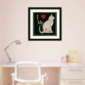 """""""I Love My Cat"""" Framed Wall Art"""