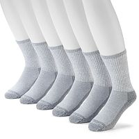 Men's Croft & Barrow® 6-pack Opticool Work Crew Socks