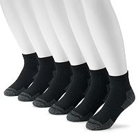 Men's Croft & Barrow® 6-pack Opticool Work Quarter Socks