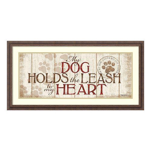"""My Dog Holds The Leash"" Framed Wall Art"