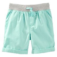 Toddler Boy OshKosh B'gosh® Canvas Pull-On Turquoise Shorts
