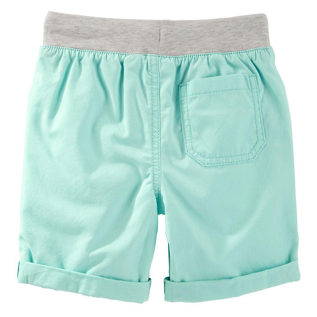 Toddler Boy OshKosh B'gosh® Canvas Pull-On Turquoise Shorts