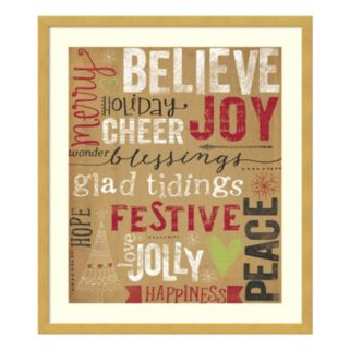 Christmas Typography Framed Wall Art