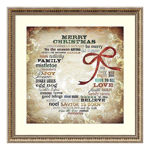 Christmas Wreath Framed Wall Art