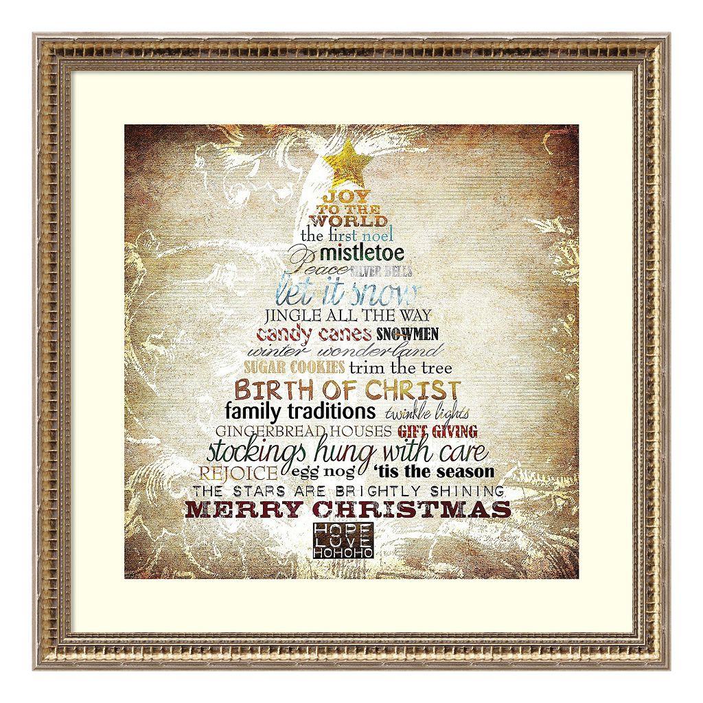 Christmas Tree Framed Wall Art