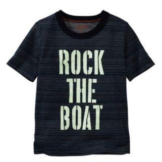 "Toddler Boy OshKosh B'gosh® ""Rock The Boat"" Glow-in-the-Dark Striped Tee"