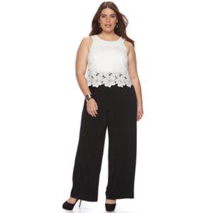 Plus Size Chaya Lace Popover Jumpsuit