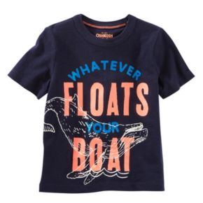 "Toddler Boy OshKosh B'gosh® ""Whatever Floats Your Boat"" Glow-in-the-Dark Whale Tee"