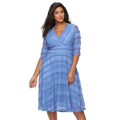 Plus Size Chaya Lace Fit Amp Flare Dress