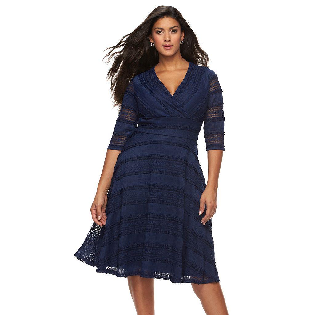 Plus Size Chaya Lace Fit & Flare Dress