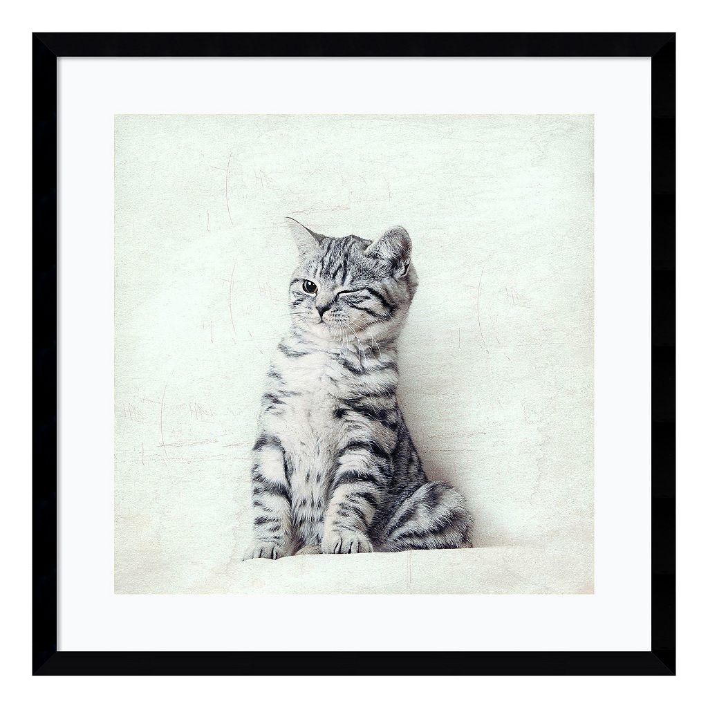 Cat Winks Framed Wall Art