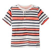Toddler Boy OshKosh B'gosh® Neon Striped Henley Tee