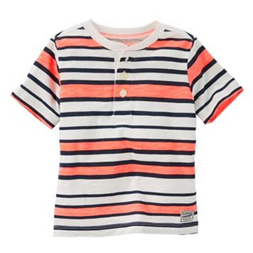 Toddler Boy OshKosh B'gosh® Neon Striped Henley Tee