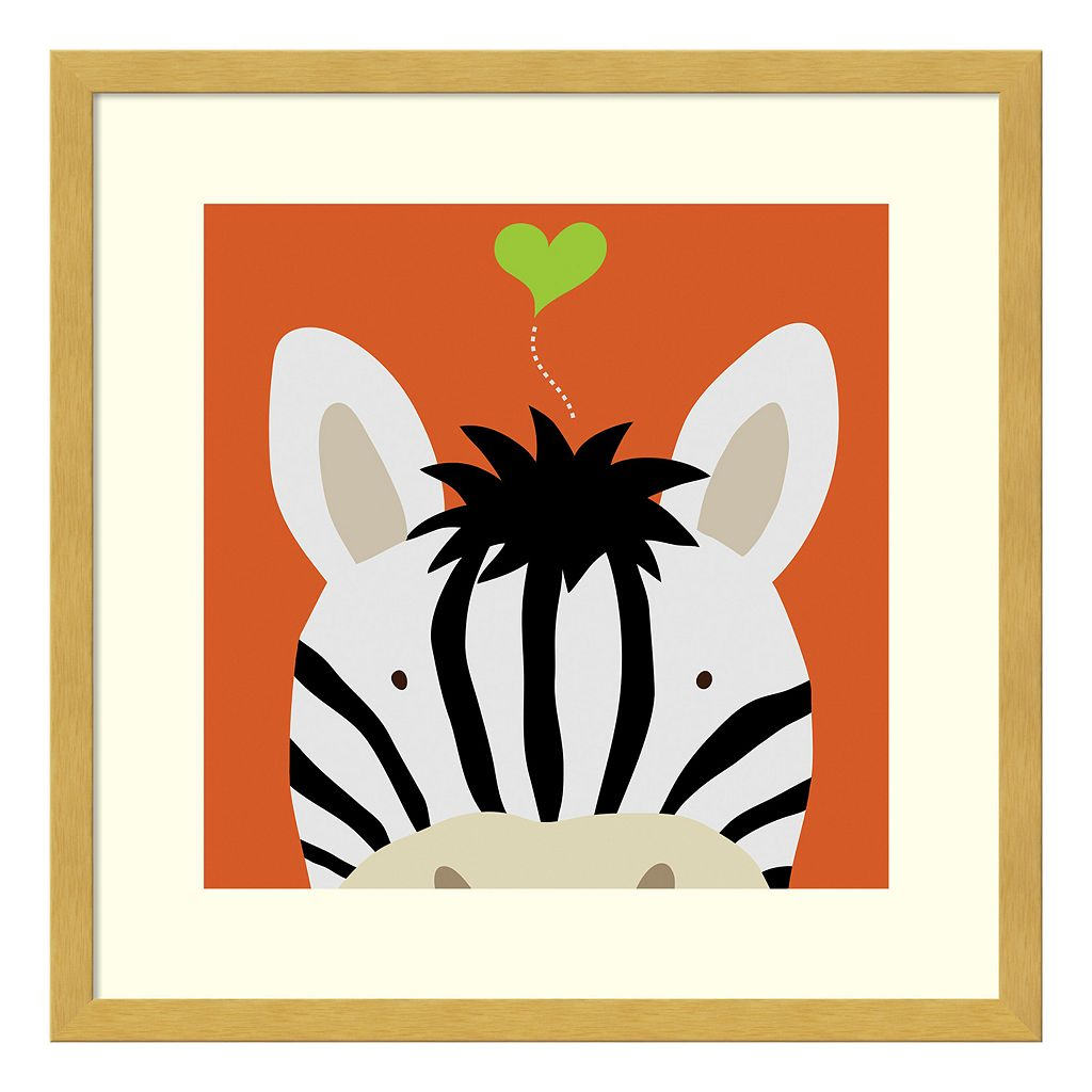 Peek-A-Boo Zebra Framed Wall Art