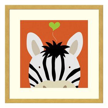 Peek-A-Boo Zebra Framed Wall Art