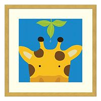 Peek-A-Boo Giraffe Framed Wall Art