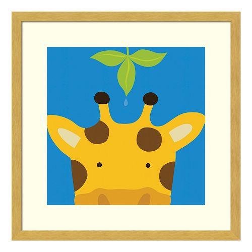 Peek-A-Boo Giraffe Framed Wall Art