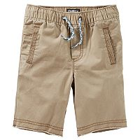 Toddler Boy OshKosh B'gosh® Brown Pull-On Canvas Shorts