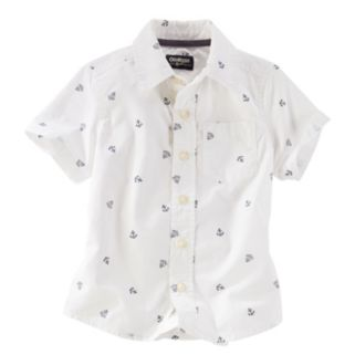 Toddler Boy OshKosh B'gosh® Short Sleeve Printed Anchors Button-Down Shirt