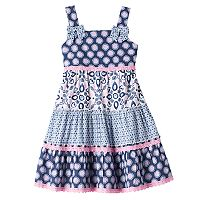 Girls 4-6x Blueberi Boulevard Tiered Pattern Dress
