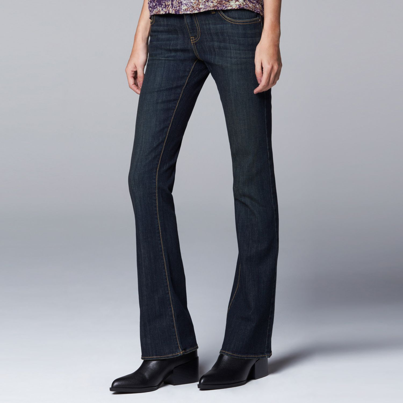 Simply Vera Vera Wang Modern Fit Bootcut Jeans - Womens