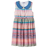 Girls 4-6x Blueberi Boulevard Collared Pattern Dress