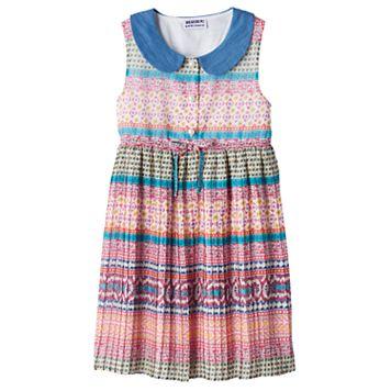 Girls 4-6x Blueberi Boulevard Collared Pattern Dress