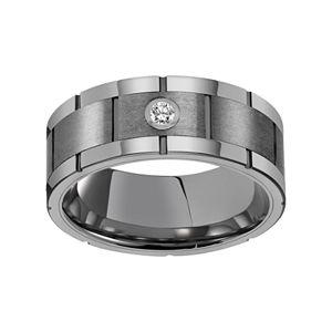 Simply Vera Vera Wang Tungsten Carbide 1/10 Carat T.W. Diamond Wedding Band