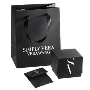 Simply Vera Vera Wang Tungsten Carbide 1/6 Carat T.W. Black Diamond Wedding Band