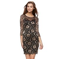 Juniors' Almost Famous Lace Bodycon Dress