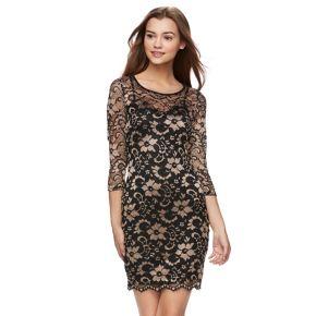 Juniors' Almost Famous Lace Bodycon Dress