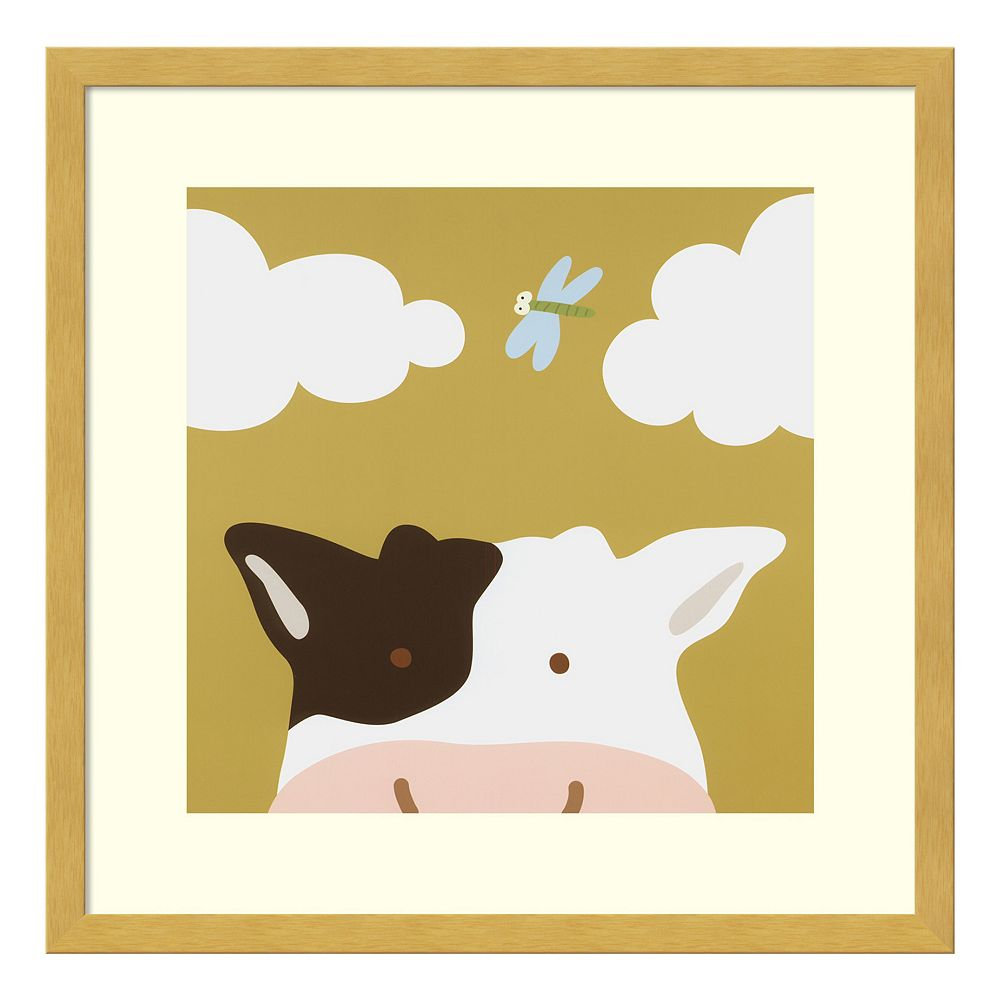 Peek-A-Boo III Cow Framed Wall Art