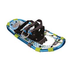 Youth Yukon Charlies Blue Aluminum Snowshoe & Poles Kit