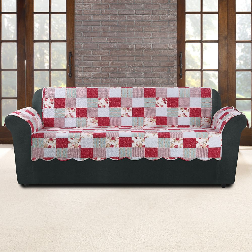 Sure Fit Heirloom Cottage Patchwork Sofa Slipcover