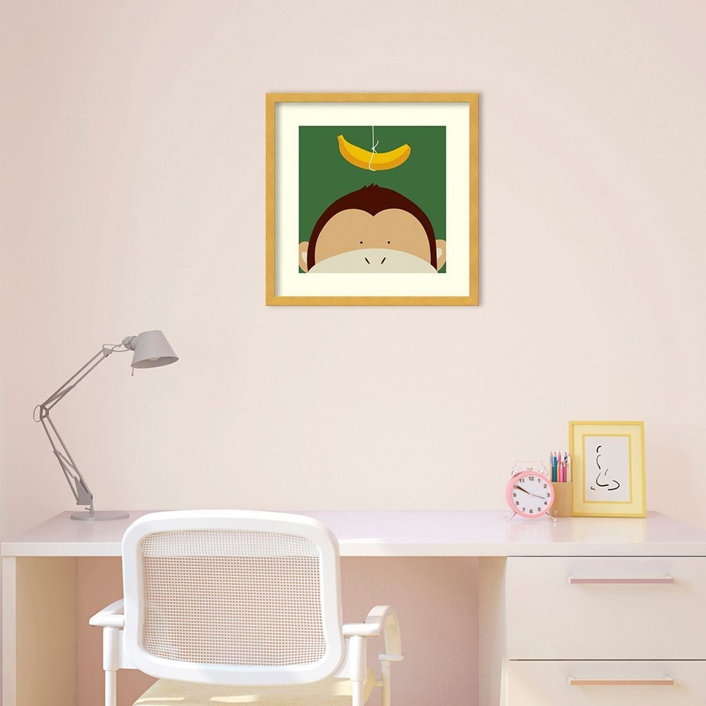 Peek-A-Boo Monkey Framed Wall Art