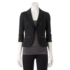 Juniors' Candie's® Ruched Knit Blazer